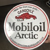 Vintage MobileOil double sided round porcelain sign