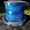 solar powered AVIATION blue flashing light unit