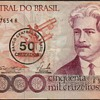 Brazil - (50,000) Cruzeiros Bank Note (Overprint)