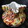 Victorian Welz squat spatter glass vase