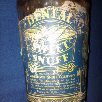 Dental Sweet Snuff jar