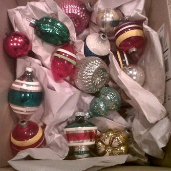 Vintage ornaments  - Christmas