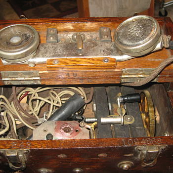 Stromberg Carlson Telephone, metal receiver in wood box, need more info!