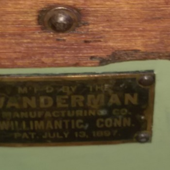Vanderman 1897 (Railroad or Seaman's) Strong Box Tool chest Wood and metal - Furniture