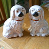 Antique China Dog Ornaments.