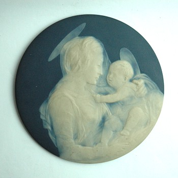 french limoges porcelain plaque with religious scene. by CAMILLE THARAUD - Pottery