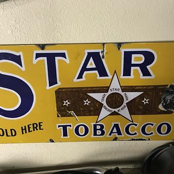 Star Tobacco sign  - Tobacciana