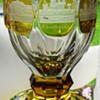 Etched Souvenir Glass with South German Castle Bohemia 19.Cent.