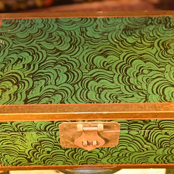 Large Malachite-Painted Wooden Box - Furniture