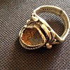 Old silver damaged ring