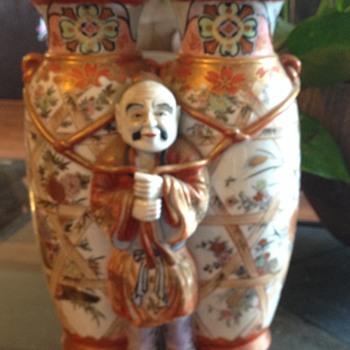 Chinese Japanese vase figure antique - Asian