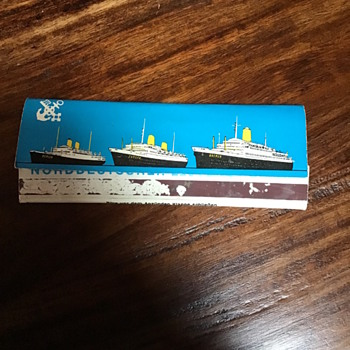 Old ocean liner matches - Tobacciana