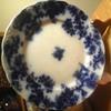 """Antique Flow Blue 9"""" Plate"""