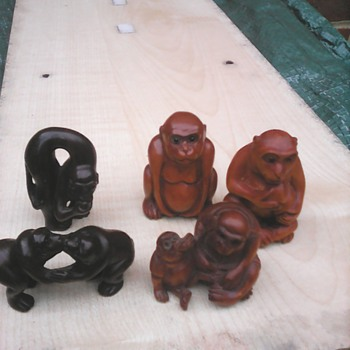 My netsuke monkeys - Asian