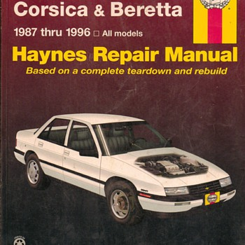 Haynes Repair Manual - 1987-1996 Chevrolet Corsica & Beretta - Classic Cars