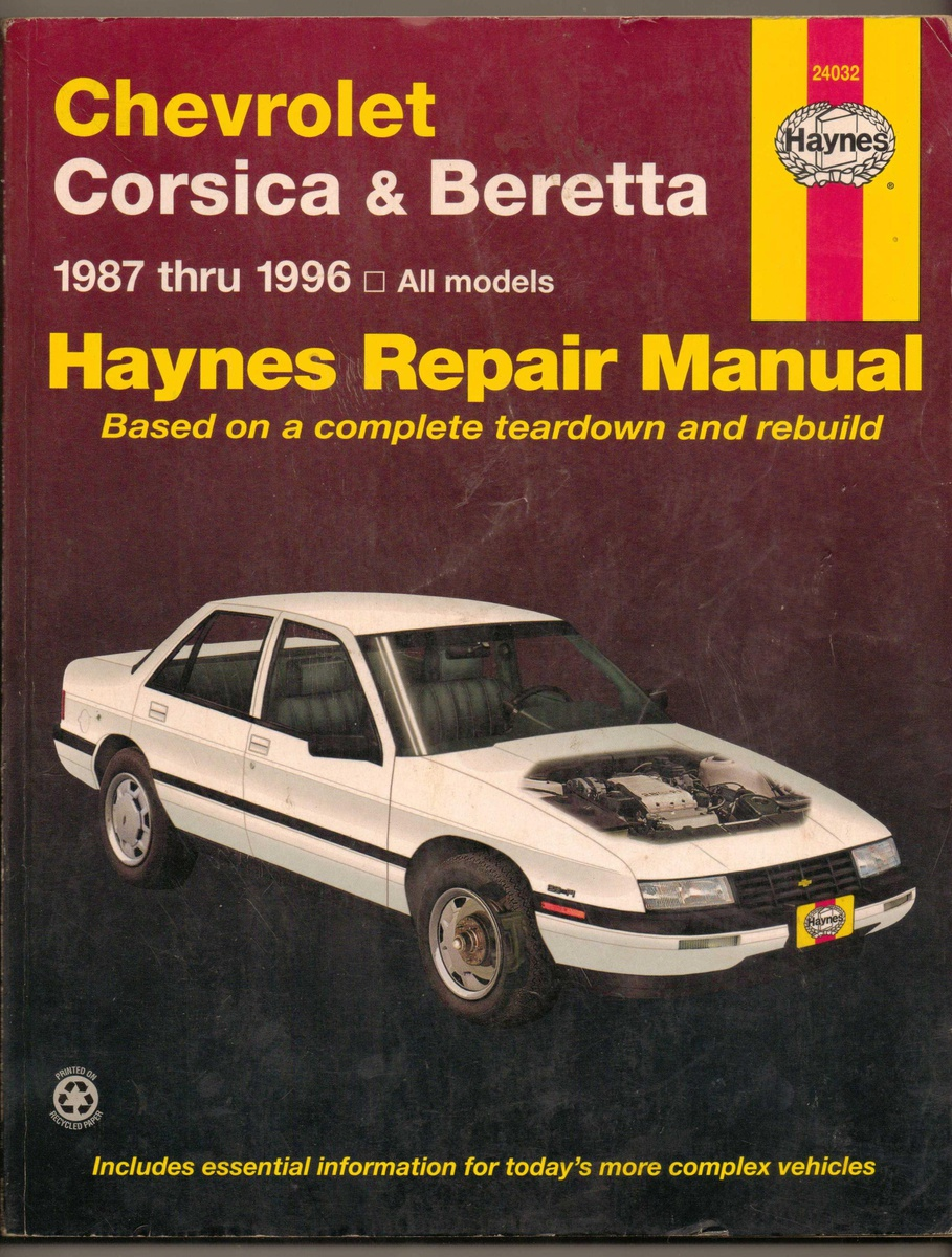 Haynes Repair Manual - 1987-1996 Chevrolet Corsica & Beretta | Collectors  Weekly