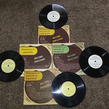"Mint Condition Language Arts Records..These are 7"" 33 1/3 RPM..Not 45 RPM - Records"