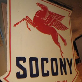 What is older SOCONY sign or MOBILGAS - Petroliana