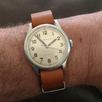 Rare 1942 Eterna Pilot watch with 852SU 17 jewel movement - Wristwatches