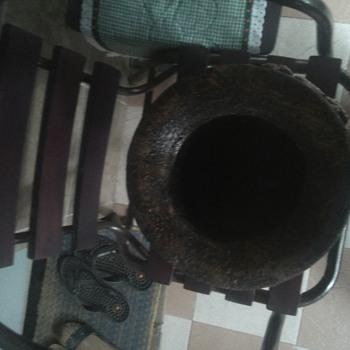 antique clay jar - Pottery