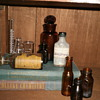 Medicine and chemistry bottles