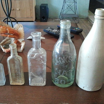 bottles from old house dig