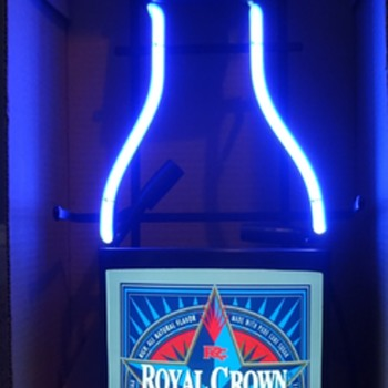 ROYAL CROWN DRAFT COLA NEON SIGN - Signs