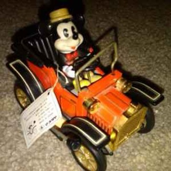 1981 Mickey Mouse in Car - Model Cars