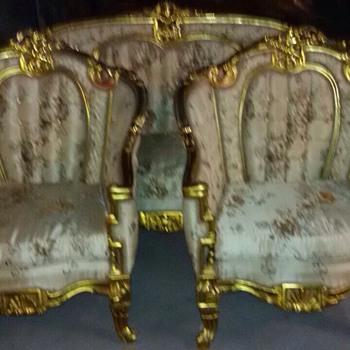 My favorite antique living room set - Furniture