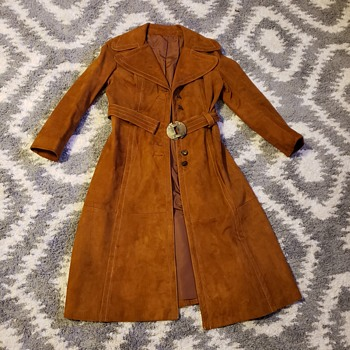 Western hippie suede trenchcoat  - Mens Clothing