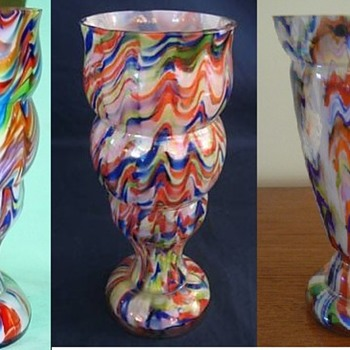 Czech (german) - Zipper #3 - Art Glass