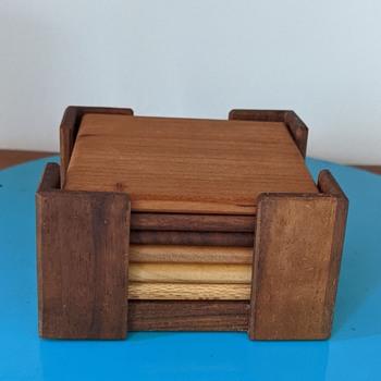 Wooden beverage coasters. - Kitchen