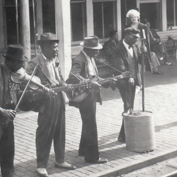 African-American Blues Musicians Jug Band Street Performers Collection Jim Linderman - Music Memorabilia