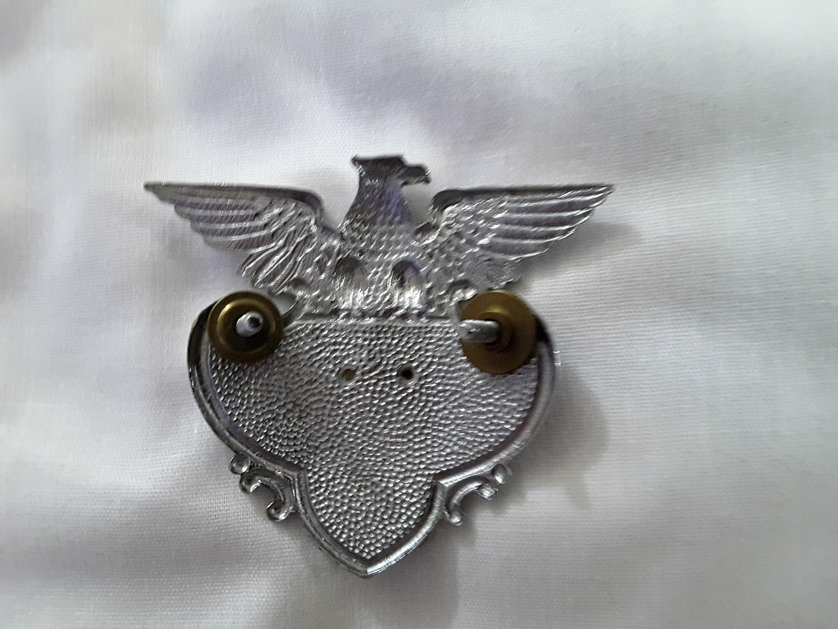 Fisher Body Badges - Silver Eagle with a Gold Overlay of