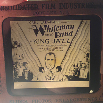 "Paul Whiteman's ""King Of Jazz"" theater lantern slide circa 1930 - Movies"