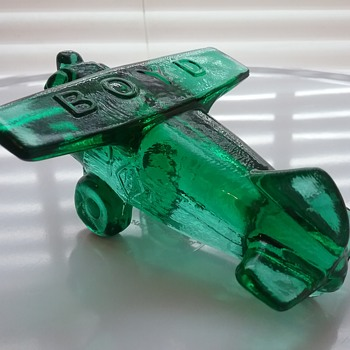 Boyd Glass airplane  - Art Glass
