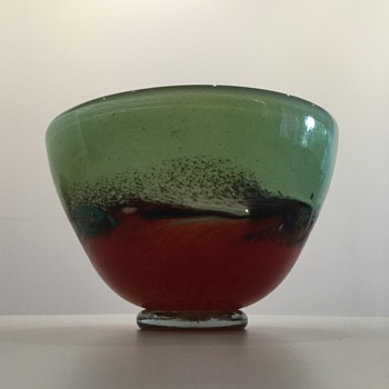 PUSCARIU GLASSWORKS STUDIO BOWL - Art Glass