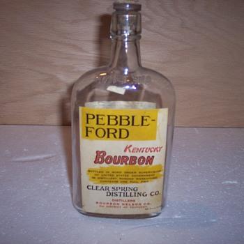 Pebble-Ford Kentucky Bourbon Bottle
