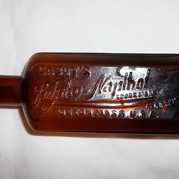 Cool (1800's?) Cabot's Sulpho-Napthol Medicine Bottle - Bottles