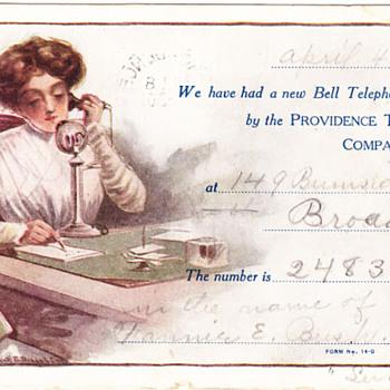 Providence Telephone Postcards - Telephones