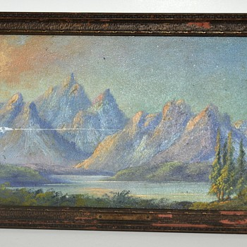 Antique Mystery Painting with UFO in scene?  (Not Joking) - Fine Art