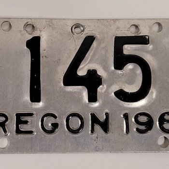 1964 Oregon Motorcycle Licence Plate  - Classic Cars