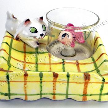 Menschik-Goldman Cat - Fishbowl Ashtray - Tobacciana