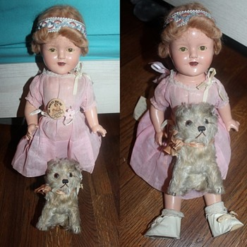 My 1920s Steiff Mohair Long-Haired Molly Dog - Dolls