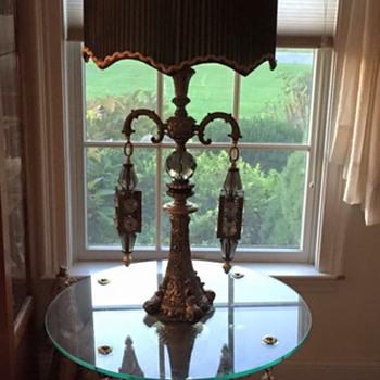 Mediterranean Table/Lamp Combo