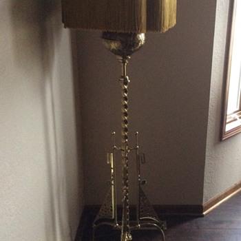 Victorian Brass Floor Lamp - Lamps