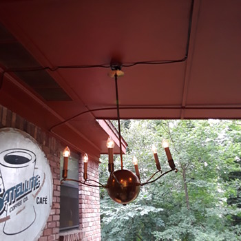 the CHANDELIER (now) in my CARPORT! (a.k.a. the 'after pics') - Lamps