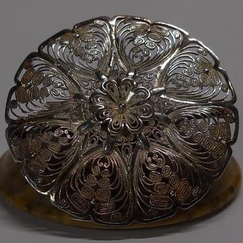 "VINTAGE FILIGREE Sterling Brooch ""Birk"" Circa 20 Century - Fine Jewelry"
