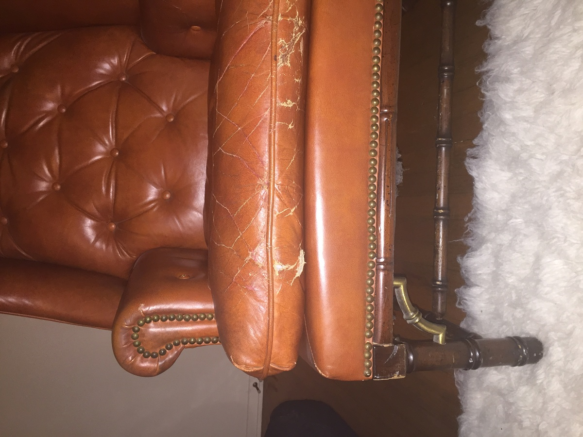 Fine Schafer Bros Leather Wingback Chair Collectors Weekly Machost Co Dining Chair Design Ideas Machostcouk