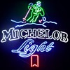 Michelob Light Ski Neon